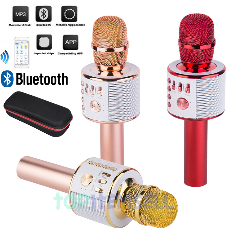 Details about Q37 Wireless Handheld Microphone KTV Karaoke Stereo USB  Player Bluetooth HIFI