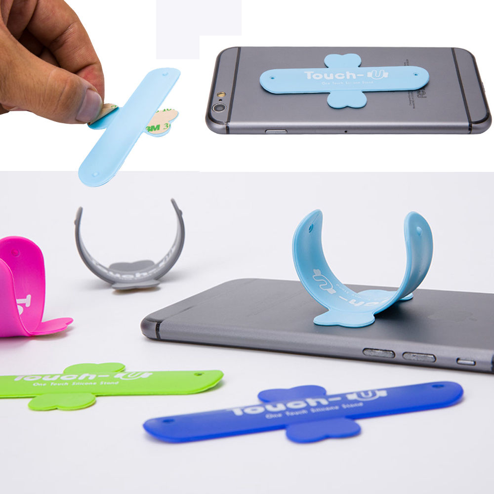 For Apple iPhone /& Samsung Touch U Type Silicone Universal Stand Mount Holder