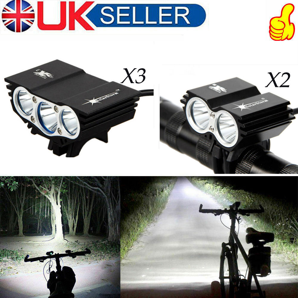 SolarStorm 20000LM X3 X2 LED Rechargeable Bicycle Light Bike Battery Rear Light
