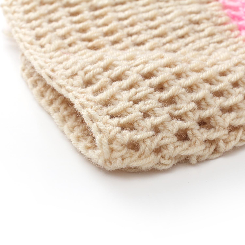 Baby Girl Boy Crochet Knitted Breast Feeding Boob Beanie Photography ... 6bef5e11f436