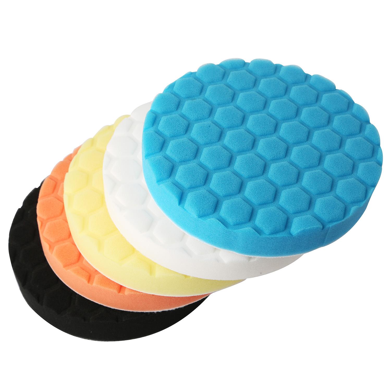 "5 Pcs Car Polisher 6/"" Sponge Polishing Waxing Buffing Pads Kit Compound ZH05"