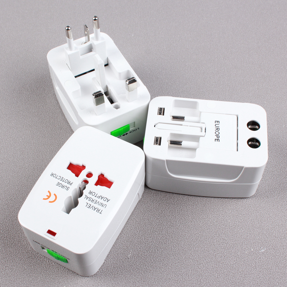 3X USA US To EU Europe Travel Charger Power Adapter Converter Wall Plug Home WB