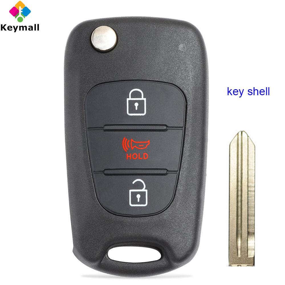 NYOSEKSAM11ATX fits 2012-2014 Kia Rio 2010-2013 Kia Soul Flip Key Fob Remote Case Shell