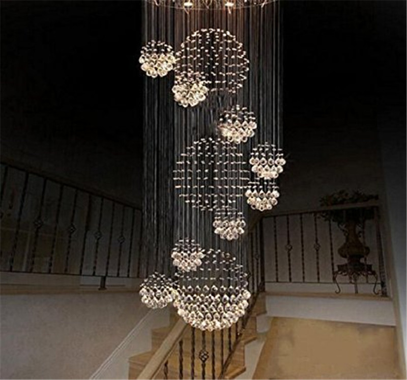 Crystal chandelier rain drop with 11 crystal sphere ceiling light crystal chandelier rain drop with 11 crystal sphere ceiling light fixture modern aloadofball Image collections