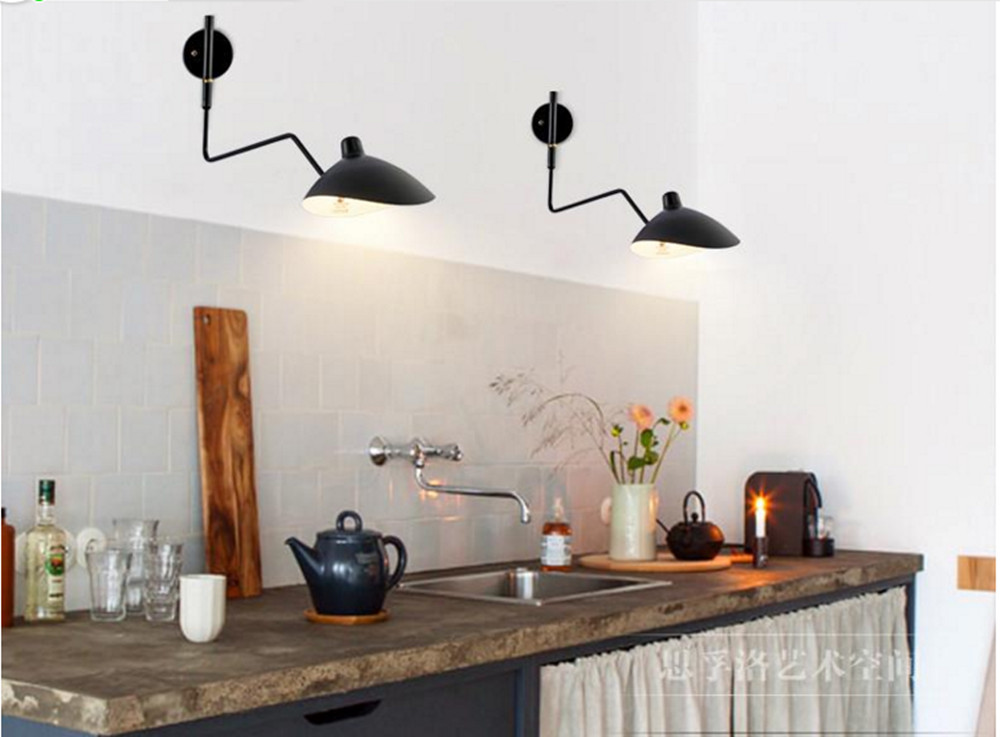 Long Serge Mouille Arm Rotating Wall Sconce Wall Light Lamp Bar Lighting  Modern