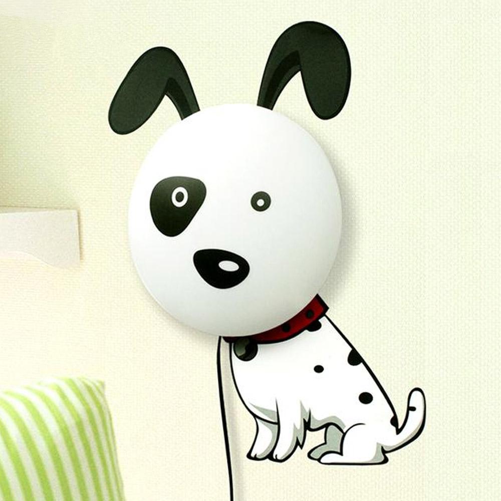 Cartoon Dalmatians Dog LED Night Light DIY 3D Wallpaper