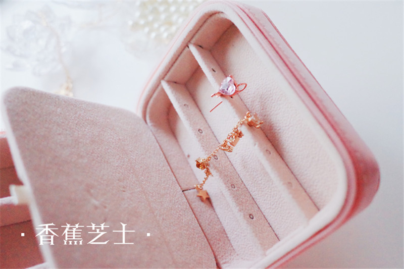 Anime Sailor Moon Zecter Girls Jewelry Box Portable Ring Storage