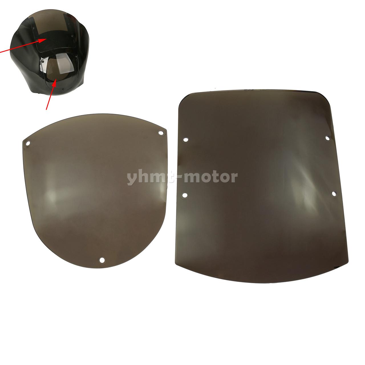 Quarter Fairing Windshield Kit Fit For Sportster XL 1200 88-up Dyna 1995-05 FXR