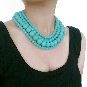 Retro Women Bohemian Necklace Gypsy Tribal Turquoise Beads Chain Choker Pendant