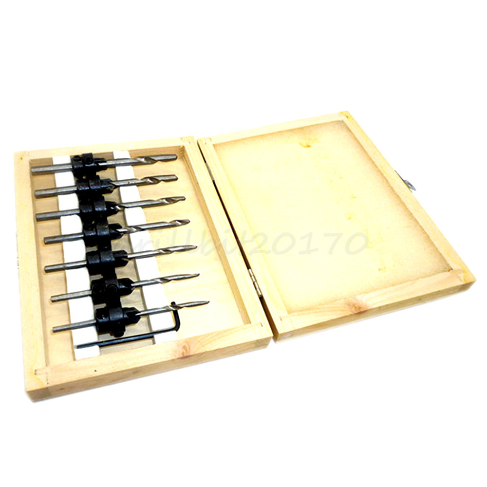 22pc Hss Countersink Drill Bits Tapered Depth Stop Collar ...