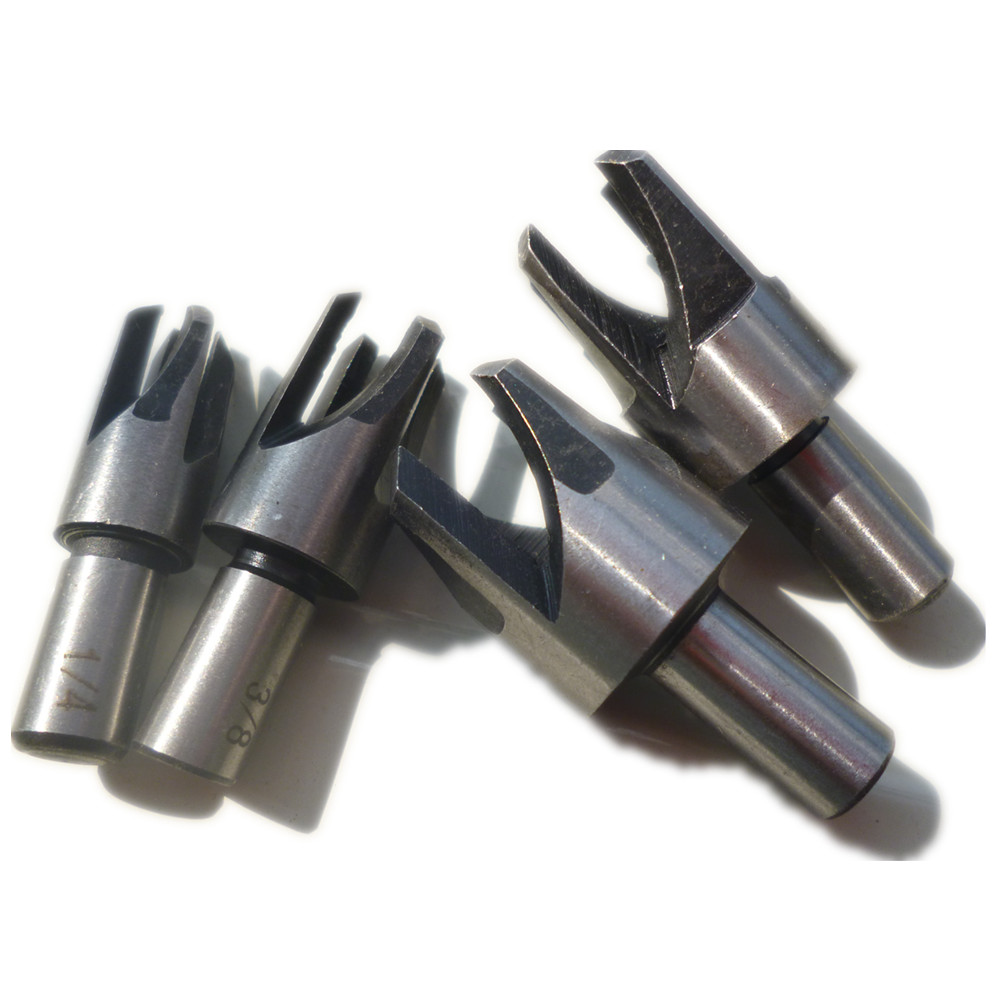 Cork Cutter: 4pcs Wood Plug Cutter Cutting Tool Drill Bit Set Claw Cork