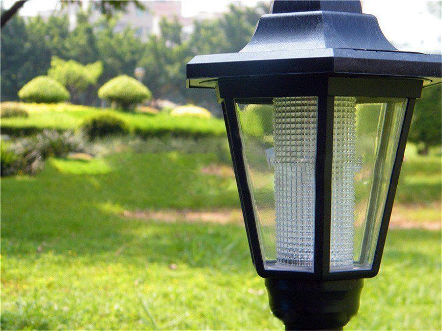 Solar Power Outdoor Garden Security Filament Led Lamp Post