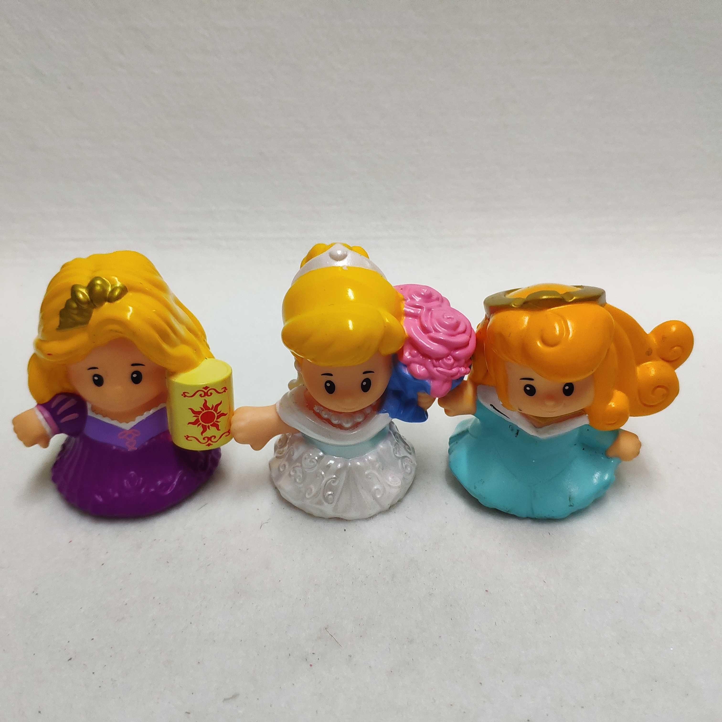 2pcs Fisher Price Little People Disney Princess Cinderella /& Rapunzel Figure Toy