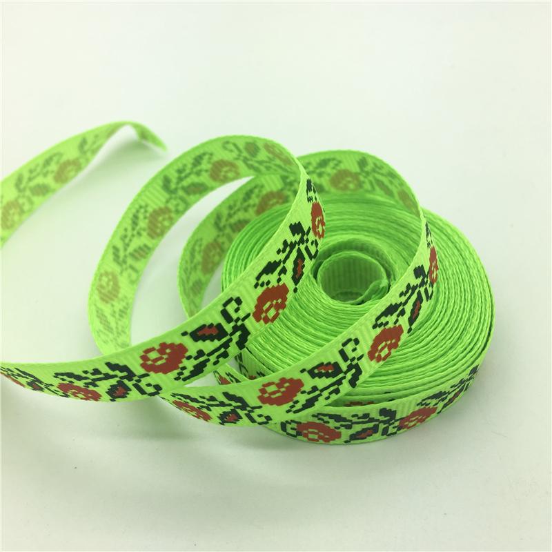 """Printed Flower Grosgrain Ribbon Hair Bow DIY Sewing #171-180 50 Yards 3//8/"""" 10mm"""