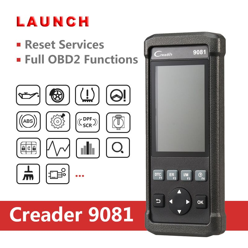 launch creader 9081 obd2 car obdii diagnostic scanner epb. Black Bedroom Furniture Sets. Home Design Ideas