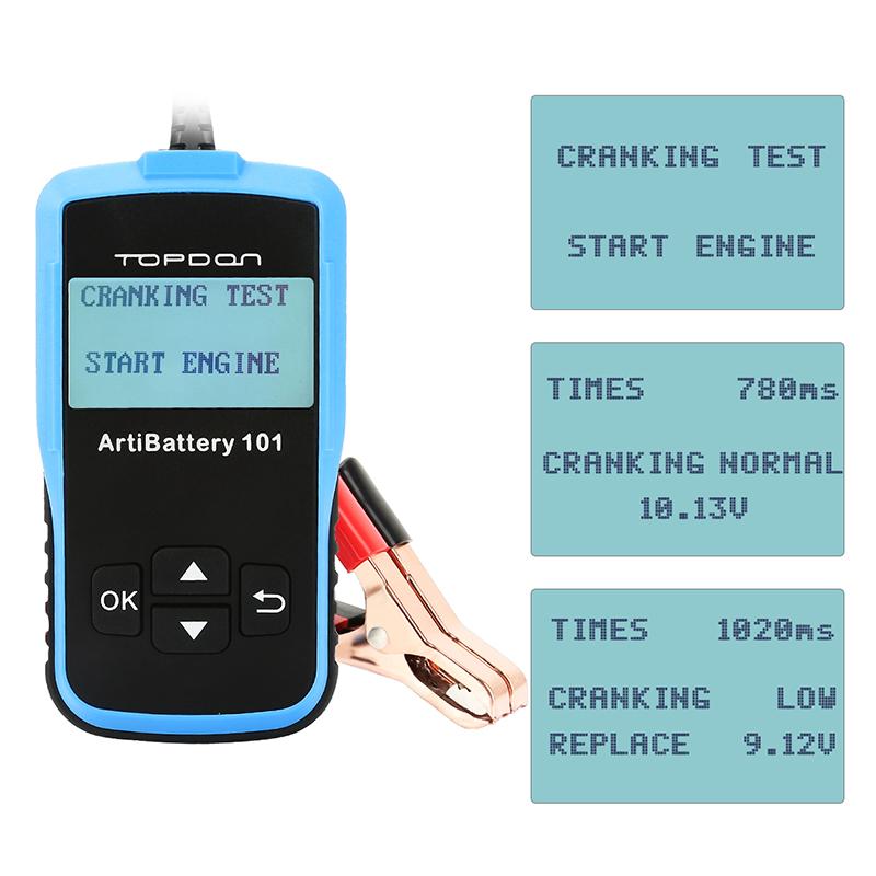 TOPDON Car 12V Battery Load Tester Analyzer Cranking Charging ...