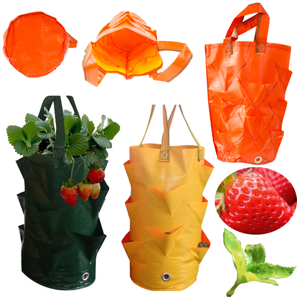 3 Gallons Tomato Strawberry Planter Bags Garden Hanging Flower Planting Grow Bag