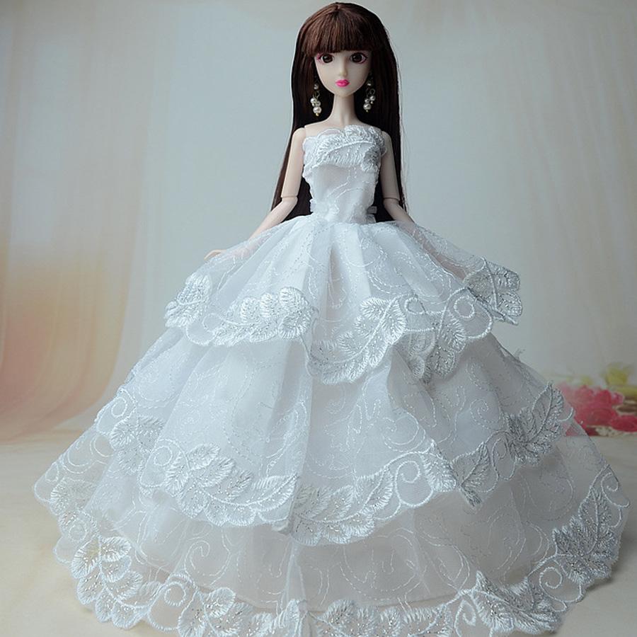 6 PCS Fashion Princes Long Dress/Wedding Clothes/Gown For 29 cm ...