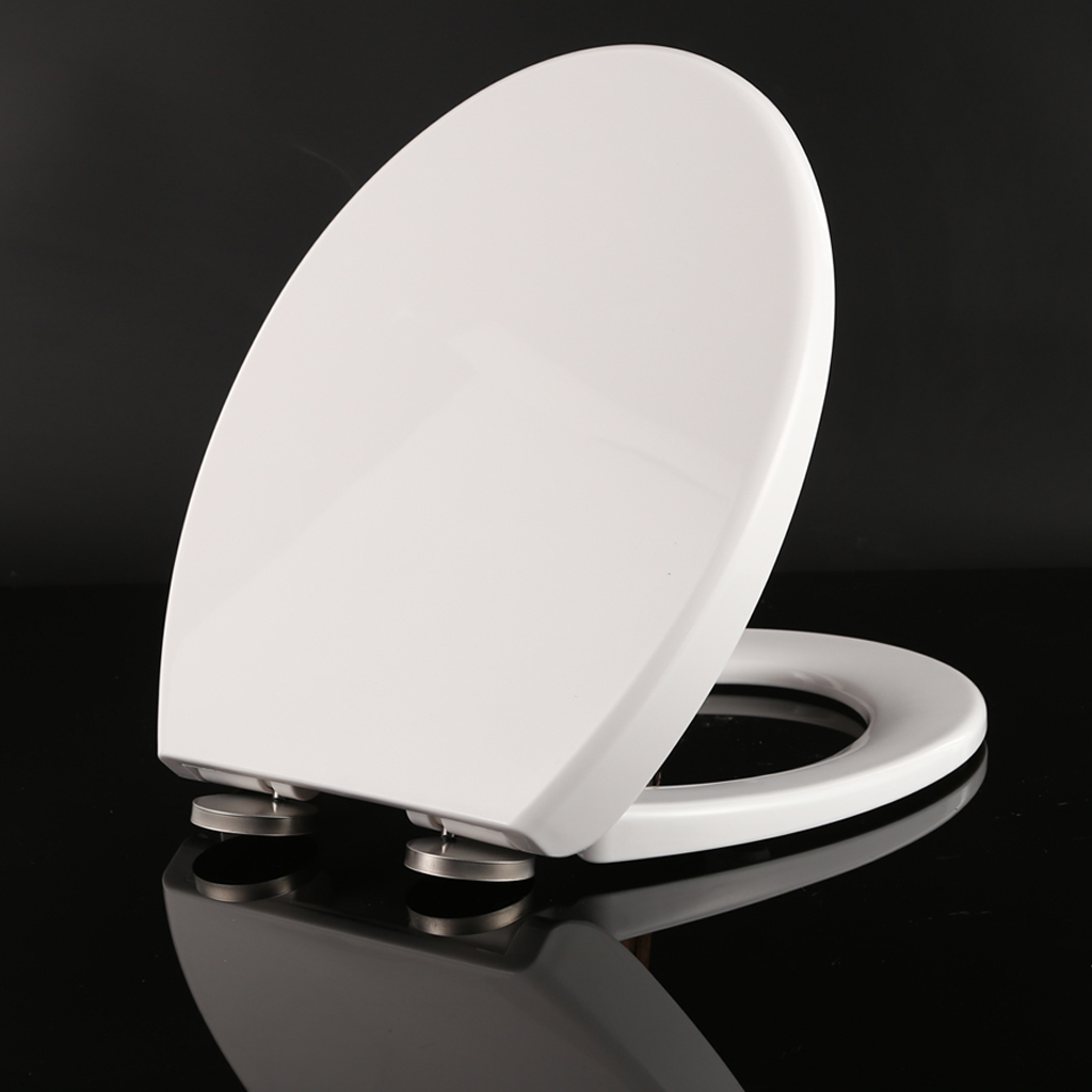 Universal Soft Closing Toilet Seat White Oval Slow Close