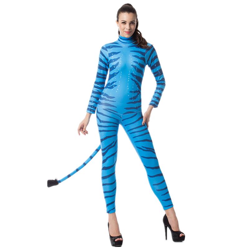 ladies women blue avatar neytiri film halloween fancy dress costume