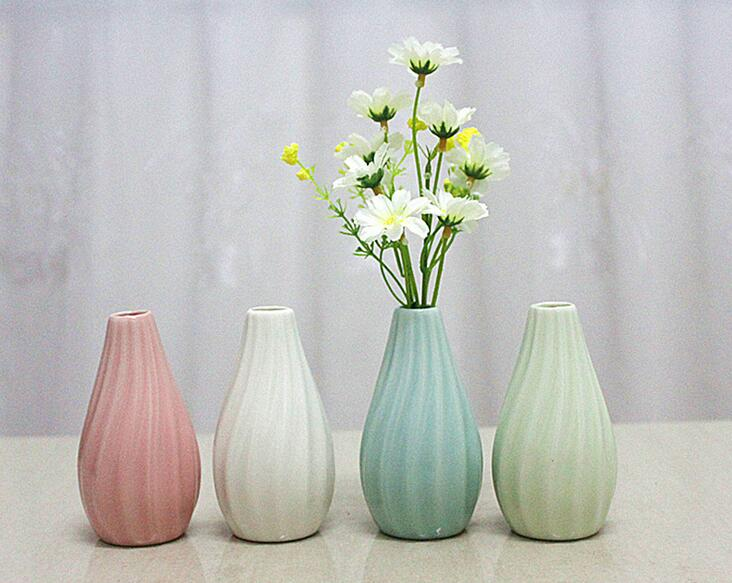 Home Garden Ceramic Pottery Classic Stripe Flower Pot Plant Office
