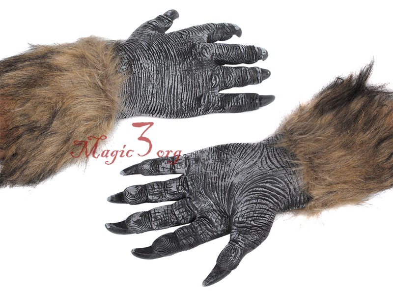 Scariest Werewolf Gloves Halloween Wolf Hands Cosplay Claws Costumes Men Kids