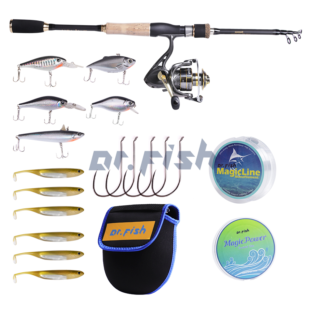 Details about 5.9 Ft Spinning Rod and Reel Combo 9+1BB Lures Line Hooks Saltwater Bass Trout