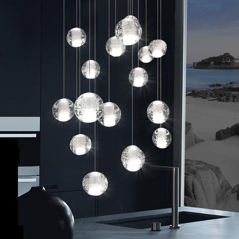 Details zu LED K9 Kristall Kerze Hängelampe Lüster Leuchte Kronleuchter Deckenleuchte