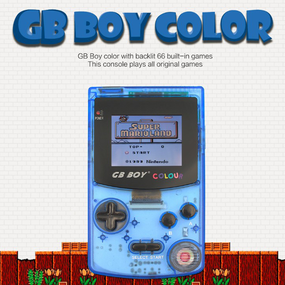 GB Boy Classic Color Colour Handheld Game Console with Games Player ...