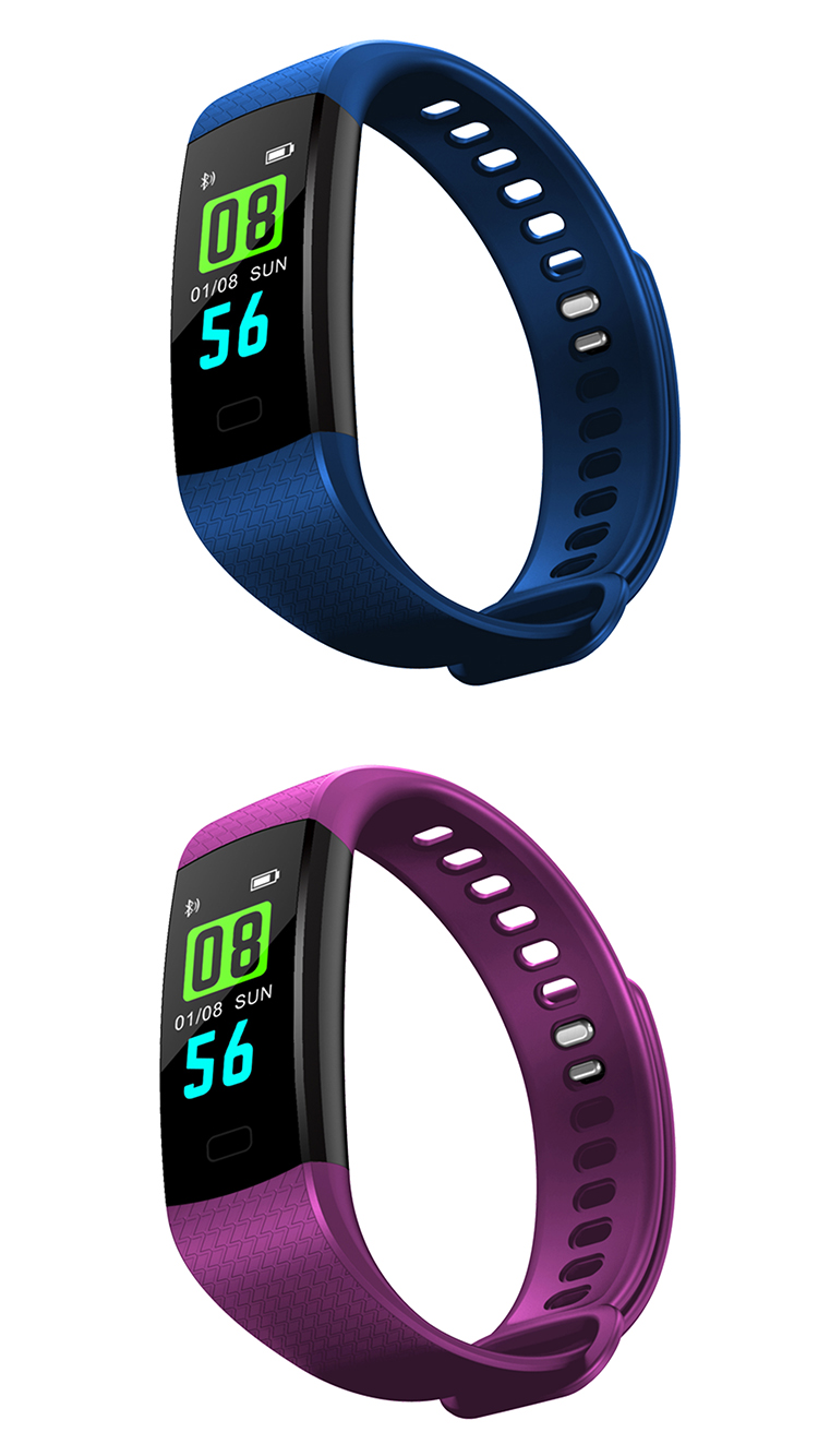 Y5 Smart Bracelet Color Screen Wristband Heart Rate Activity Fitness F1 Plus Original Tracker Fl