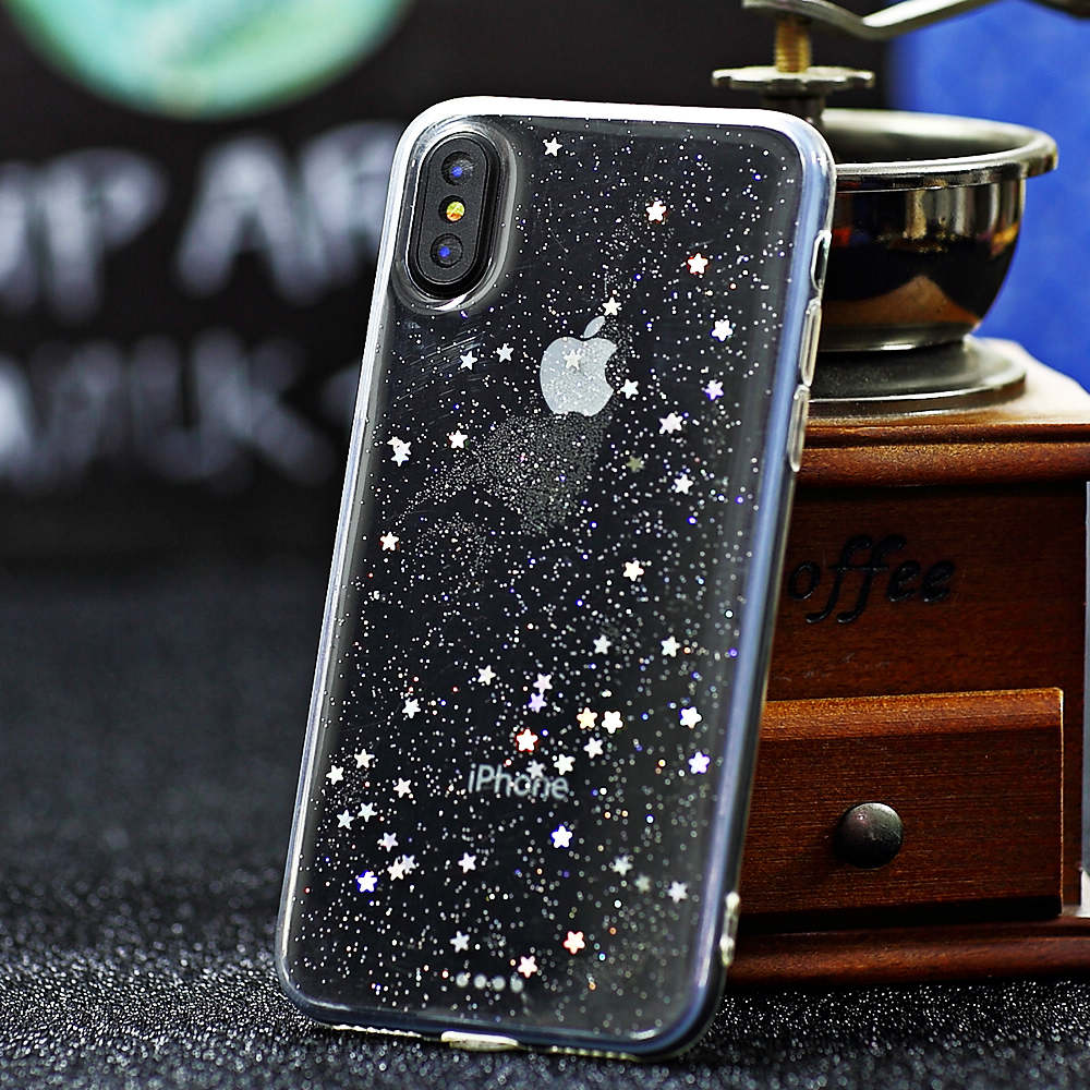 For iPhone XS MAX XR X 8 7 Bling Glitter Clear Transparent Ultra-Thin Case  Cover 5e2feef4b