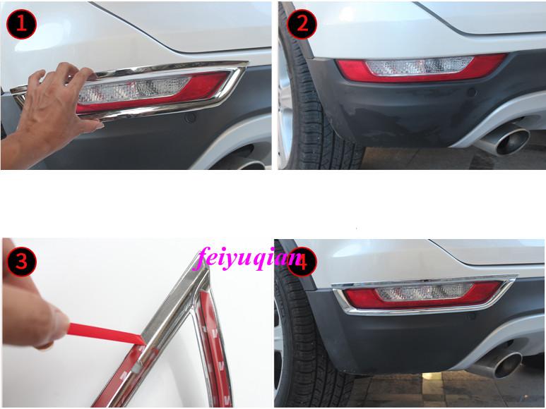 New Chrome Rear Fog Light Cover Trim For Lincoln MKC 2015-2019