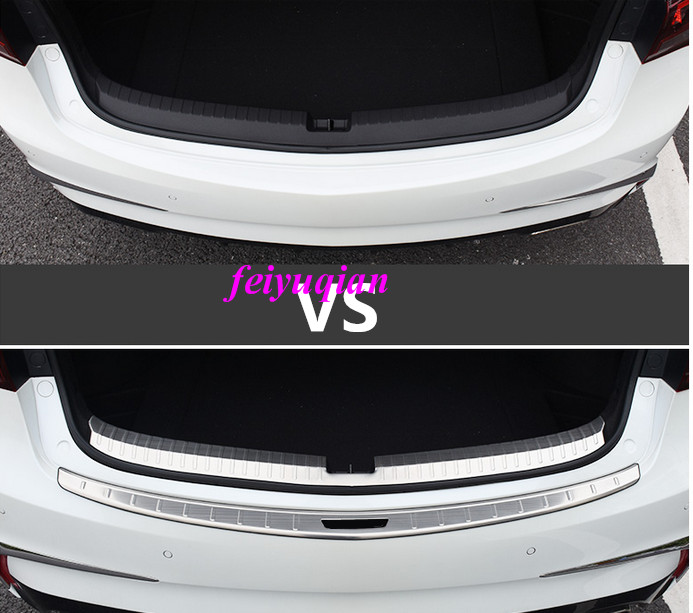 Stainless Rear Door Bumper Trunk Guard Sill Plate Cover