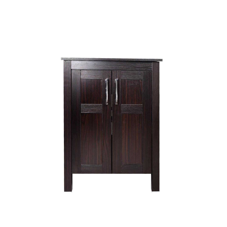 24 Quot Bathroom Vanity Top Cabinet Wood Single Vessel Sink