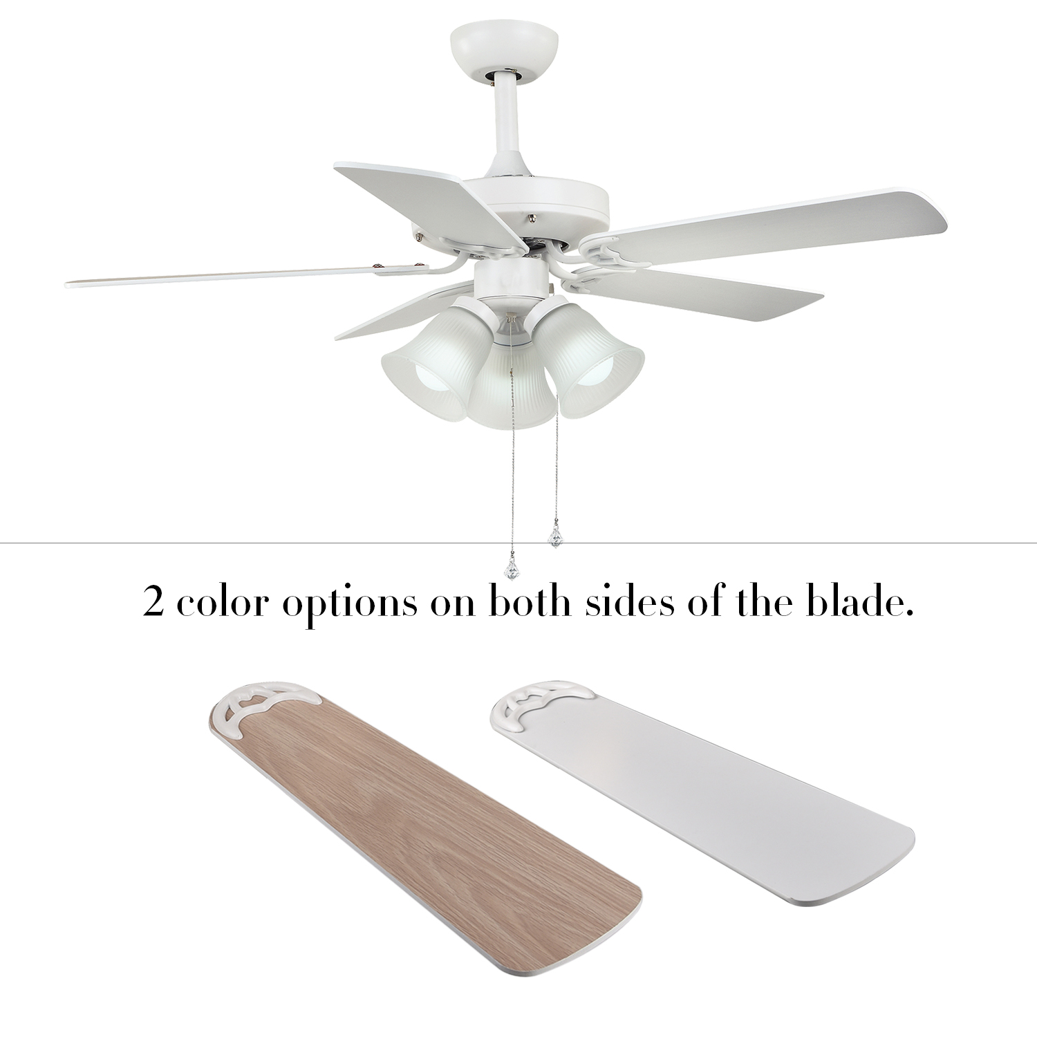 ii monte lights fans with clarity inch fan p carlo steel in brushed ceiling blade