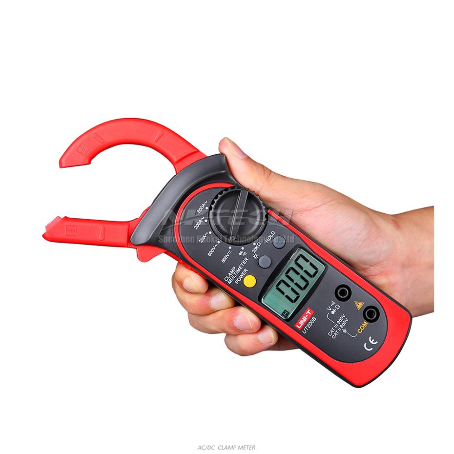 UNI-T Digital Clamp Meter AC AMP AC DC Volt Voltmeter Resistance 600A Ohmmeter