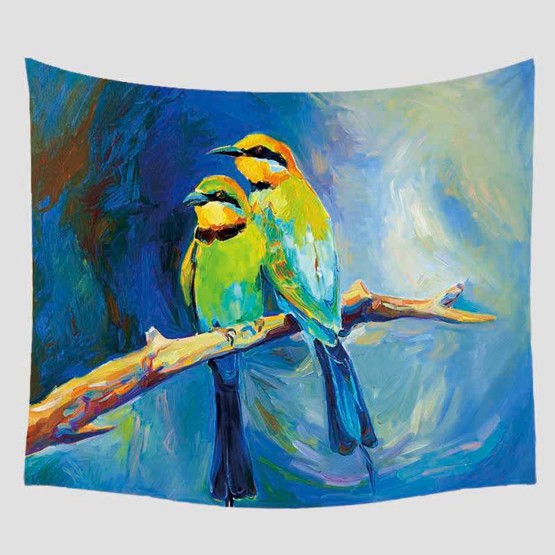 Macaw Animal Tapisserie Art Mural Sofa table Bed Cover Home Decor