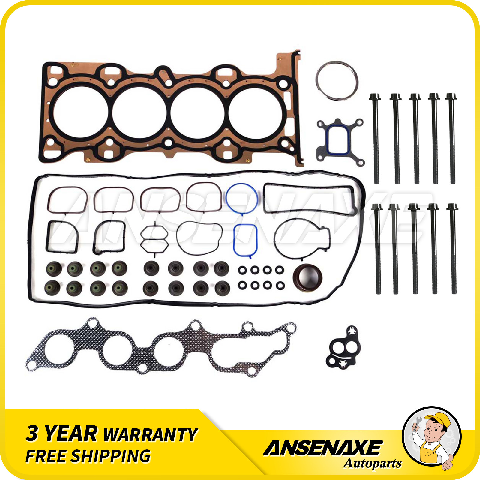 Valve Cover Gasket for 06-09 Ford Fusion Lincoln Mercury Milan 3.0 24V VIN 1