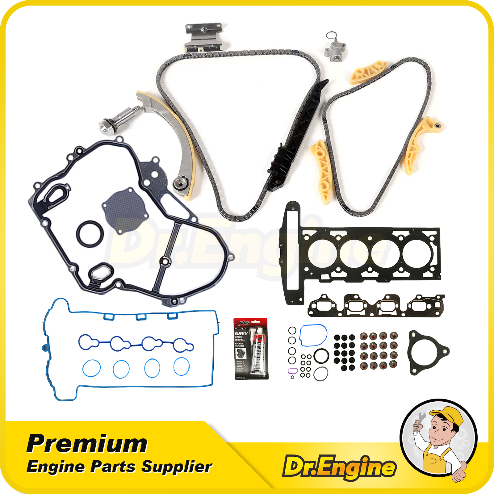 Head Gasket Set Timing Chain Kit Cover For 07