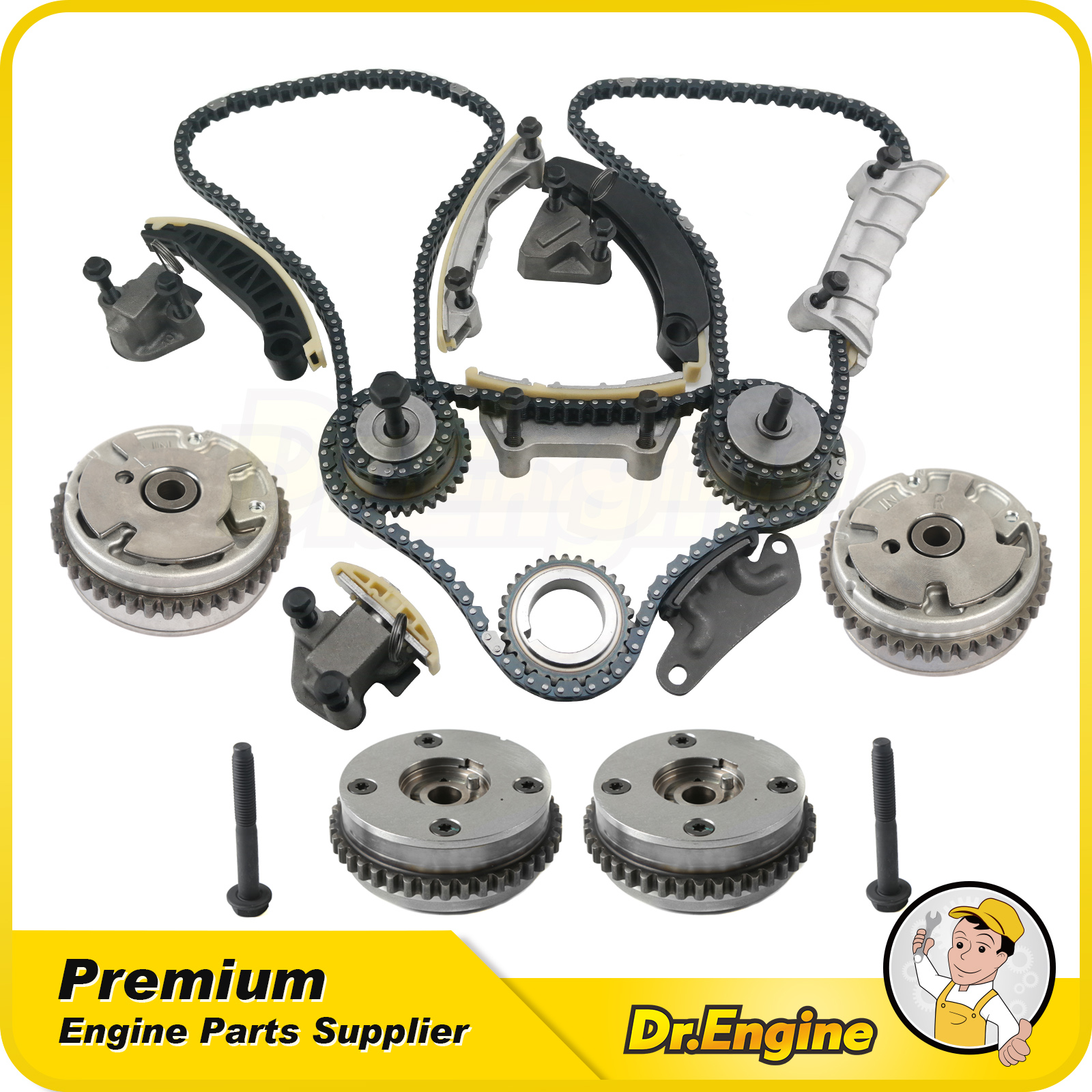 Timing Chain Kit W/ Camshaft Cam Gears Fit 06-17 GMC Buick