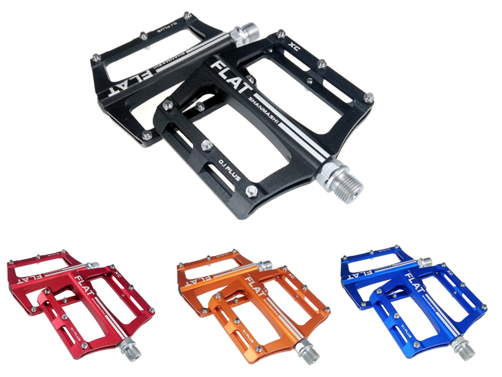2019 NEW Mountain Bike Widen Pedal Road Bicycle Pedals Flat//Platform 9//16in
