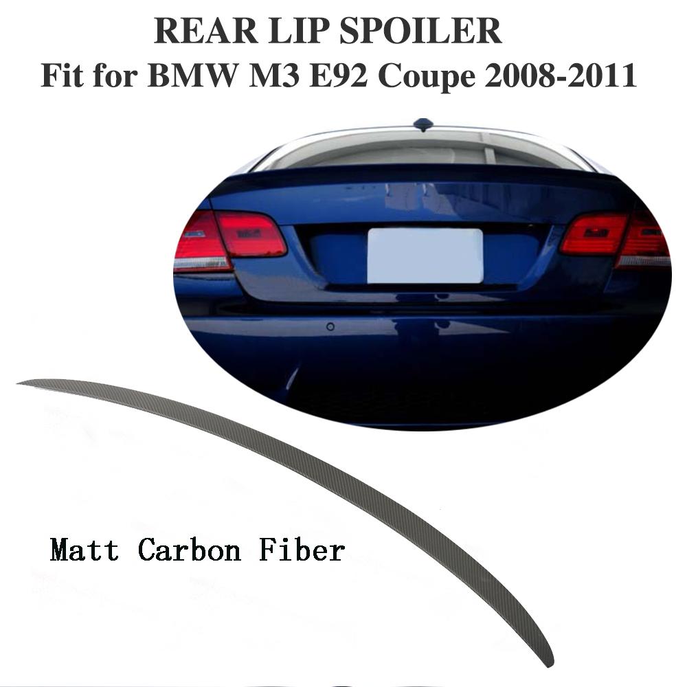 Rear Spoiler Lid Wing Matt Carbon Fiber Fit For BMW 3-Series