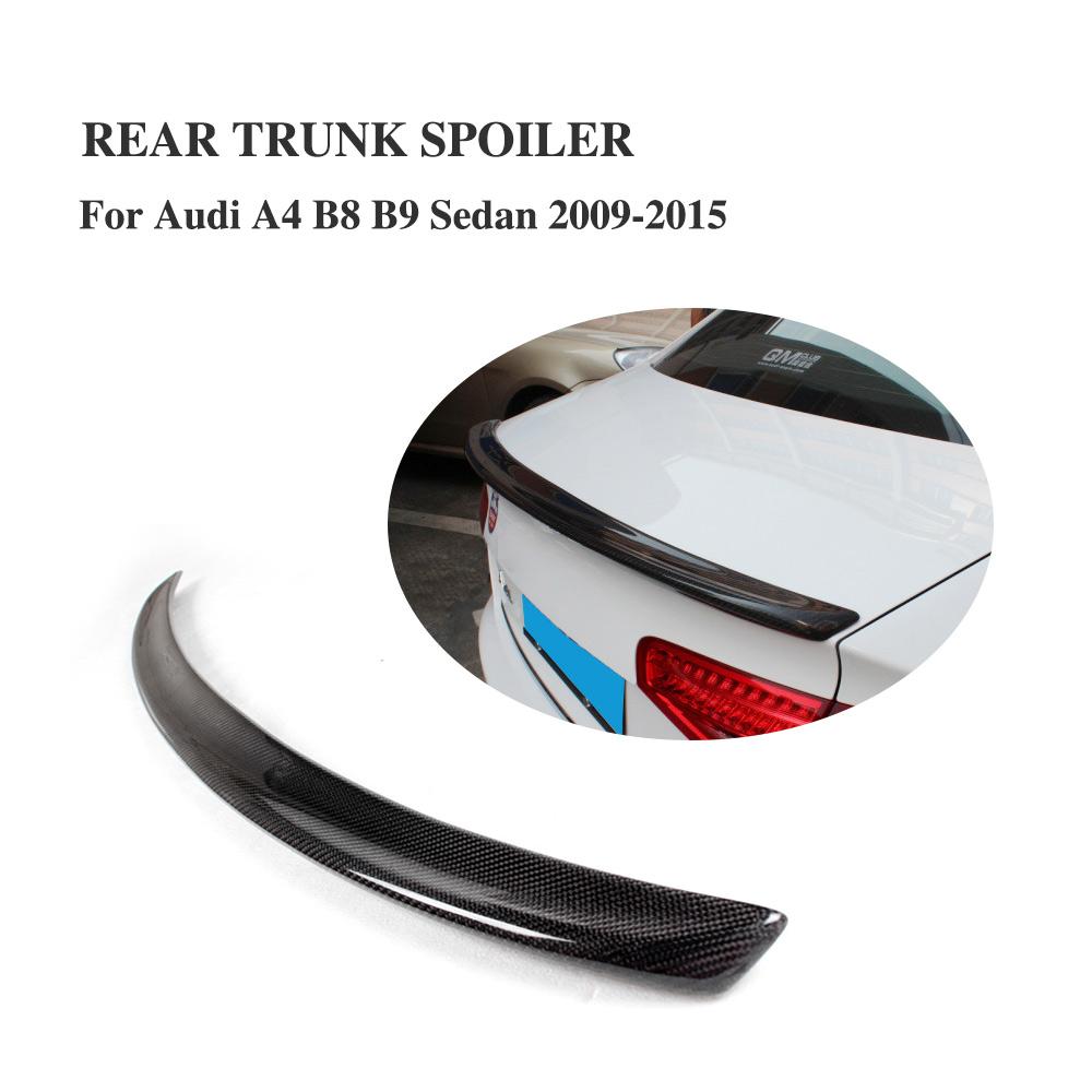 Painted SV Style Rear Trunk Lip Spoiler Wing For AUDI A4 B8 8K 2009~15 Sedan