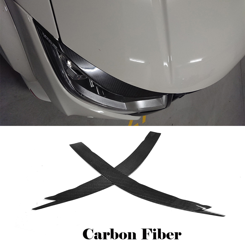 Carbon Fiber Headlight Lamp Cover Eyebrows Eyelids for Honda Accord 1994-1997