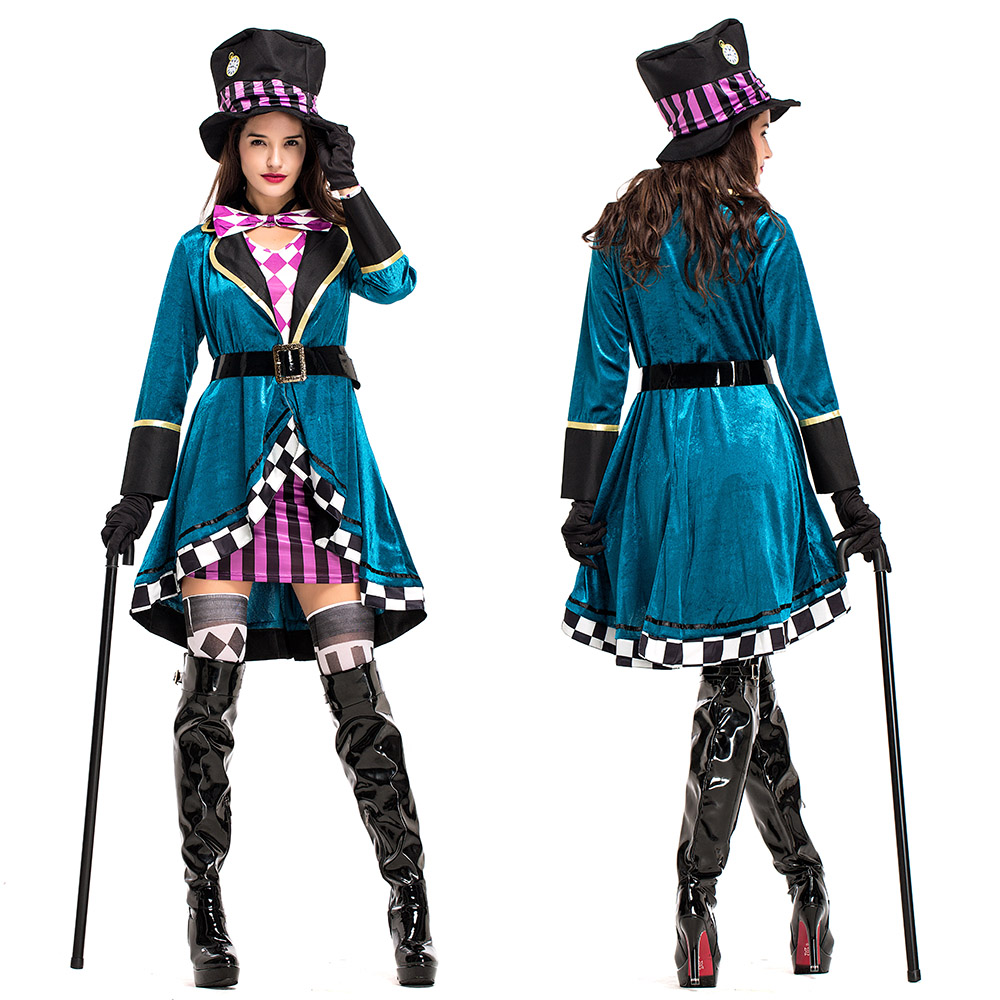 ad632b2da8 Mad Hatter Alice in Wonderland Women Costume Cosplay Party Fancy ...