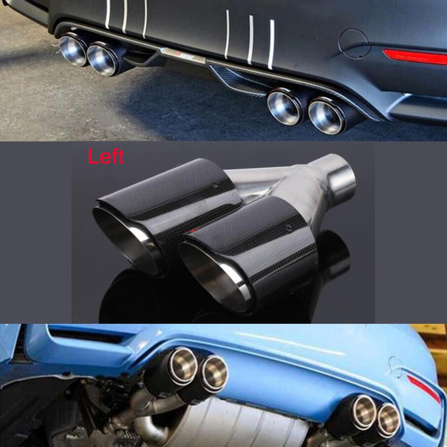 Replacement Car SUV 3/'/' Car Tail Exhaust Pipe Muffler Tip Titanium Black