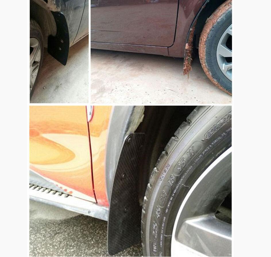 Car Truck Mudguard Front Rear Wheel Carbon Fiber Look Flaps Mud Guard Fender Q