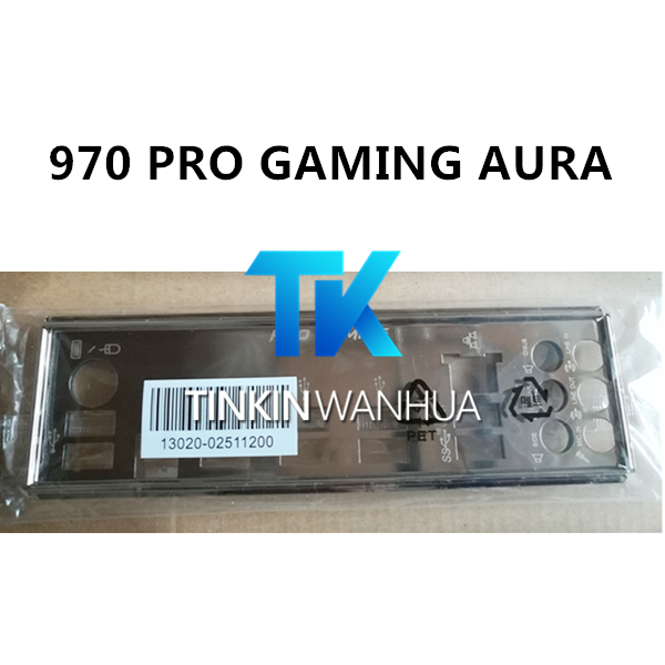 Original IO I//O Shield Back Plate Blende  for ASUS 970 PRO、970 PRO GAMING//AURA