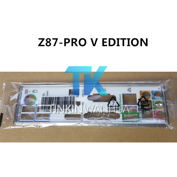 V EDITION Motherboard Backplate IO I//O Shield For backplate ASUS Z87-PRO