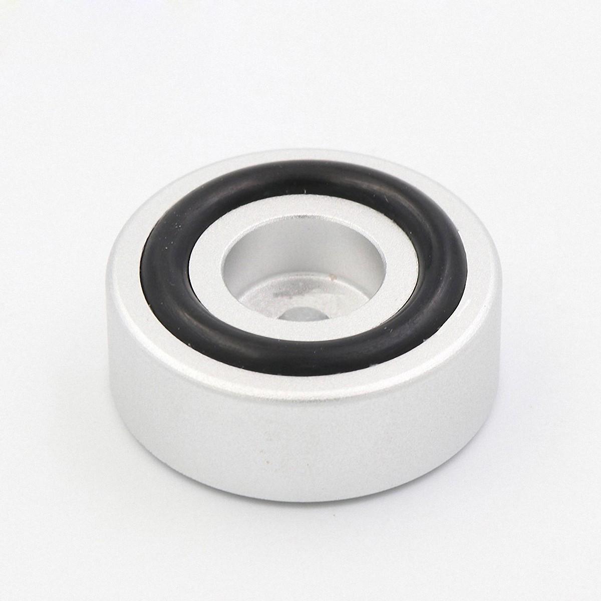 4PCS 39*17 B Style Gloss silver Aluminum amplifier//DAC//Speaker machine feet//pads